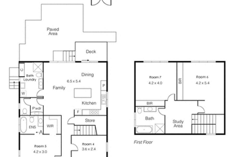 Floorplan of Homely house listing, Room 1 - 7 - 1/2 Cadorna Street, Box Hill VIC 3128