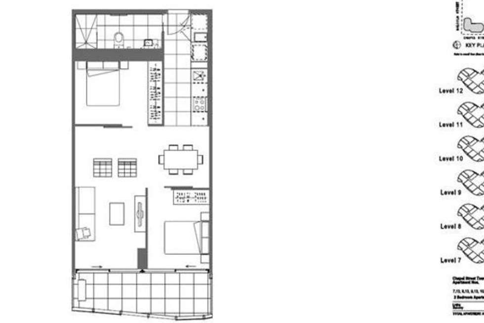 Floorplan of Homely apartment listing, 913/35 Malcolm Street, South Yarra VIC 3141