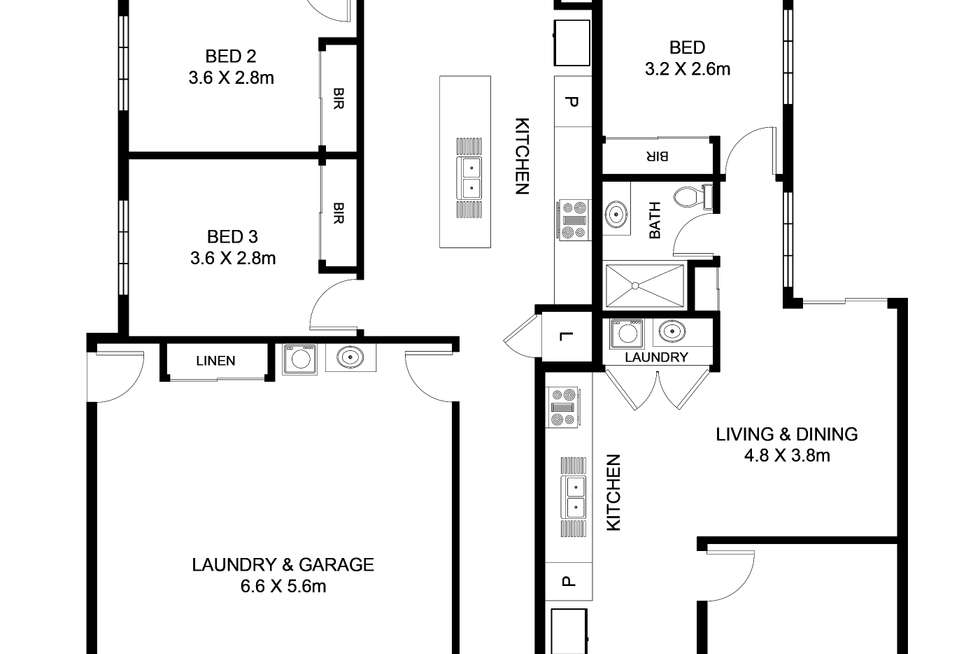 Floorplan of Homely semiDetached listing, 1 & 2 /21 Starling Crescent, Peregian Springs QLD 4573