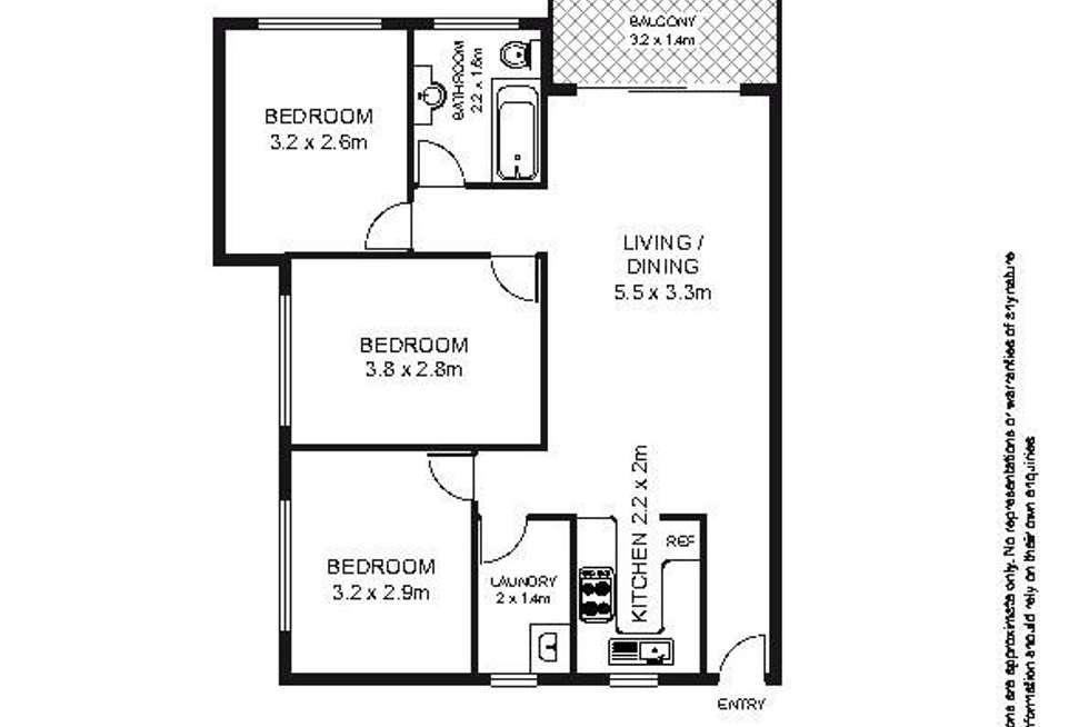 Floorplan of Homely apartment listing, 7/49-51 Arthur Street, Marrickville NSW 2204