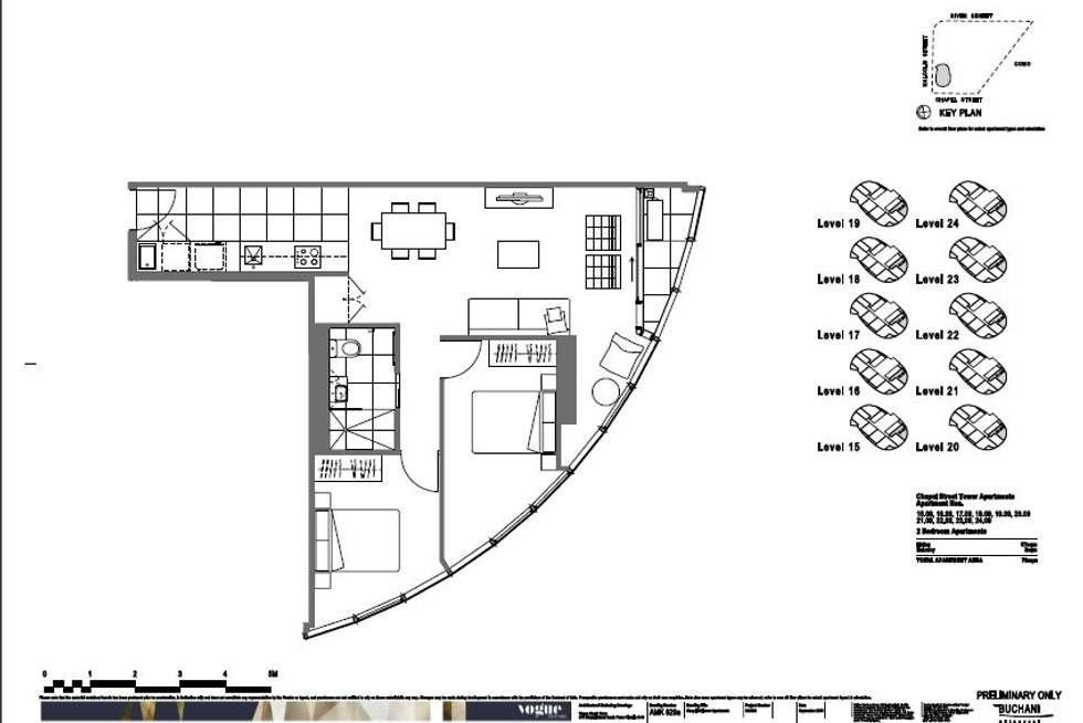 Floorplan of Homely apartment listing, 2209/35 Malcolm Street, South Yarra VIC 3141