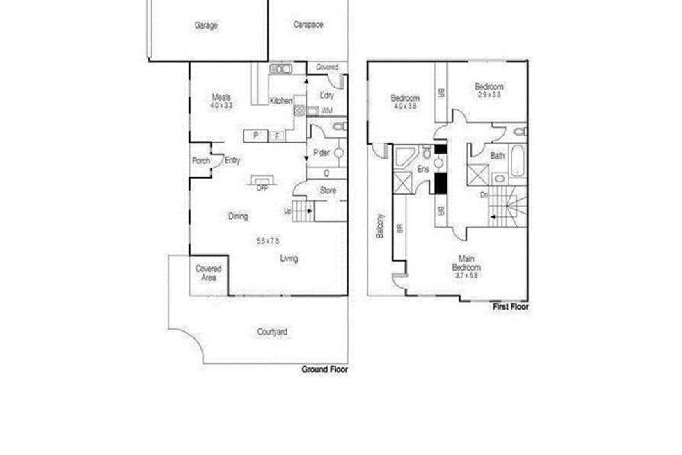 Floorplan of Homely townhouse listing, 19/745 Burwood Road, Hawthorn East VIC 3123
