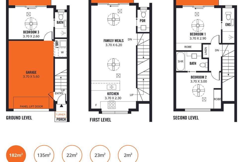 Floorplan of Homely townhouse listing, 2/19 Dixon Lane, Mawson Lakes SA 5095