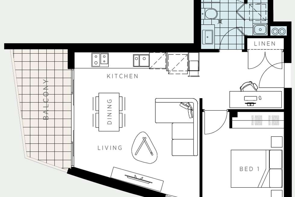 Floorplan of Homely apartment listing, 510/86 La Scala Avenue, Maribyrnong VIC 3032