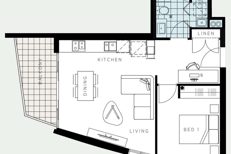 Floorplan of Homely apartment listing, 309/86 La Scala Avenue, Maribyrnong VIC 3032