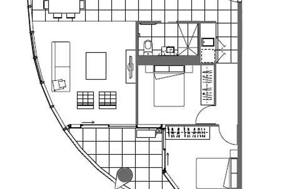 Floorplan of Homely other listing, 1306/35 Malcolm Street, South Yarra VIC 3141