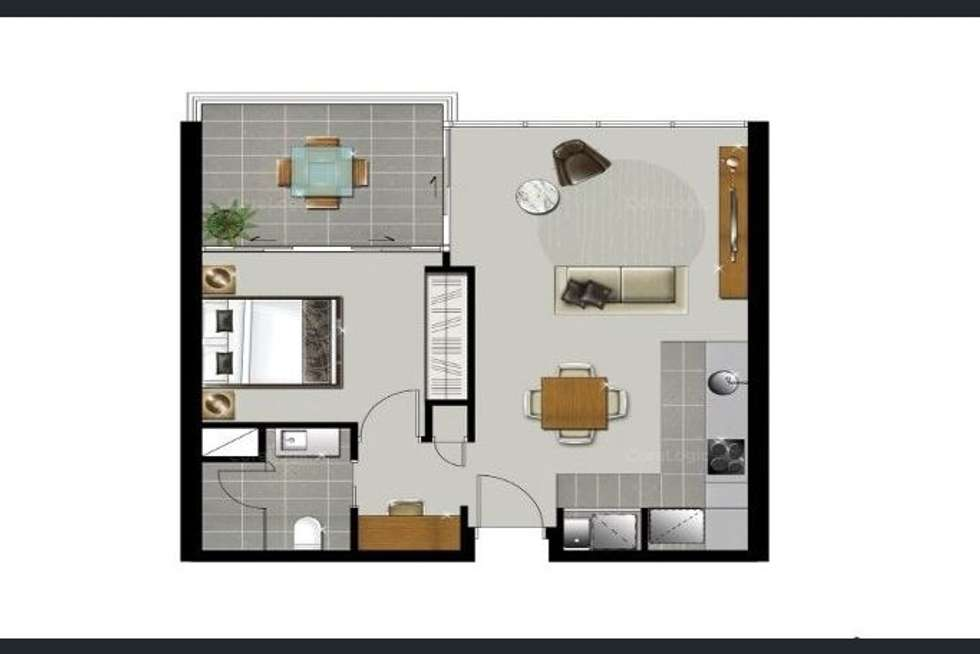 Floorplan of Homely apartment listing, Level 10/55 Railway Terrace, Milton QLD 4064