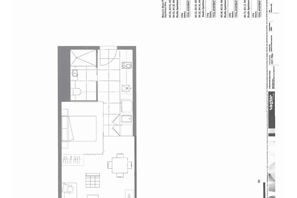 Floorplan of Homely apartment listing, 503/31 Malcolm Street, South Yarra VIC 3141