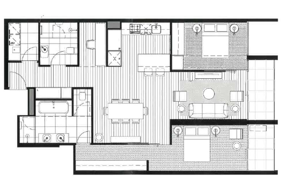 Floorplan of Homely apartment listing, 901/665 Chapel Street, South Yarra VIC 3141