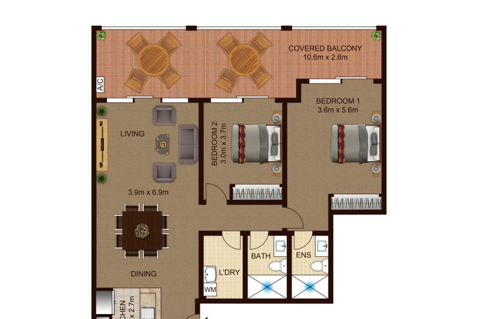 Floorplan of Homely apartment listing, 12-22 Railway Parade, Granville NSW 2142