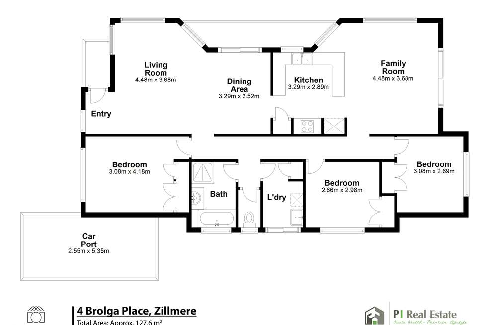 Floorplan of Homely house listing, 4 Brolga Place, Zillmere QLD 4034