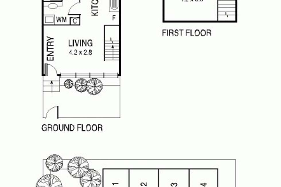 Floorplan of Homely townhouse listing, 2/38 John St, Altona North VIC 3025