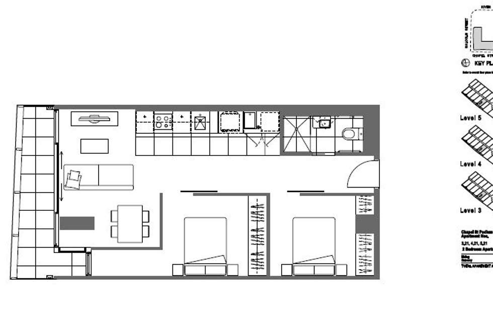 Floorplan of Homely apartment listing, 321/35 Malcolm Street, South Yarra VIC 3141