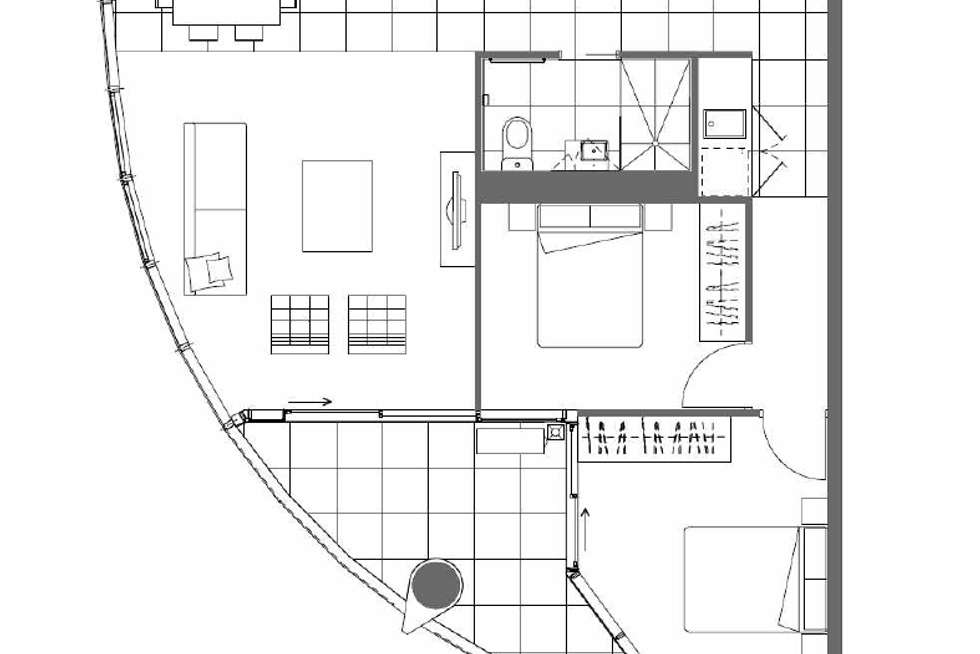 Floorplan of Homely apartment listing, 1207/35 Malcolm Street, South Yarra VIC 3141
