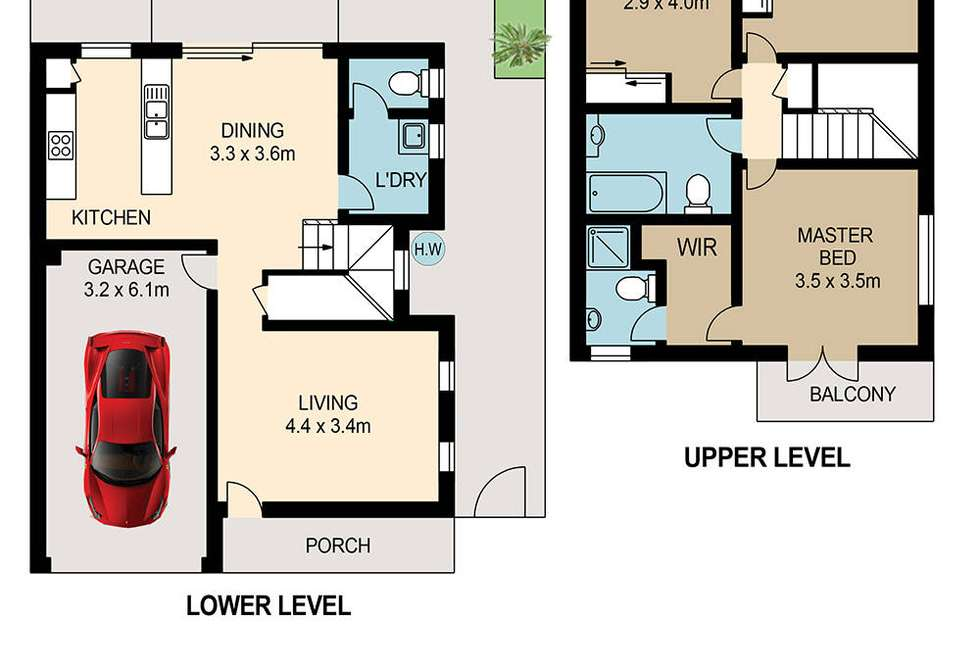 Floorplan of Homely townhouse listing, 4/15 Greenlaw Street, Indooroopilly QLD 4068