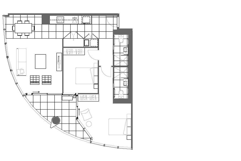 Floorplan of Homely apartment listing, 2606/35 Malcolm Street, South Yarra VIC 3141