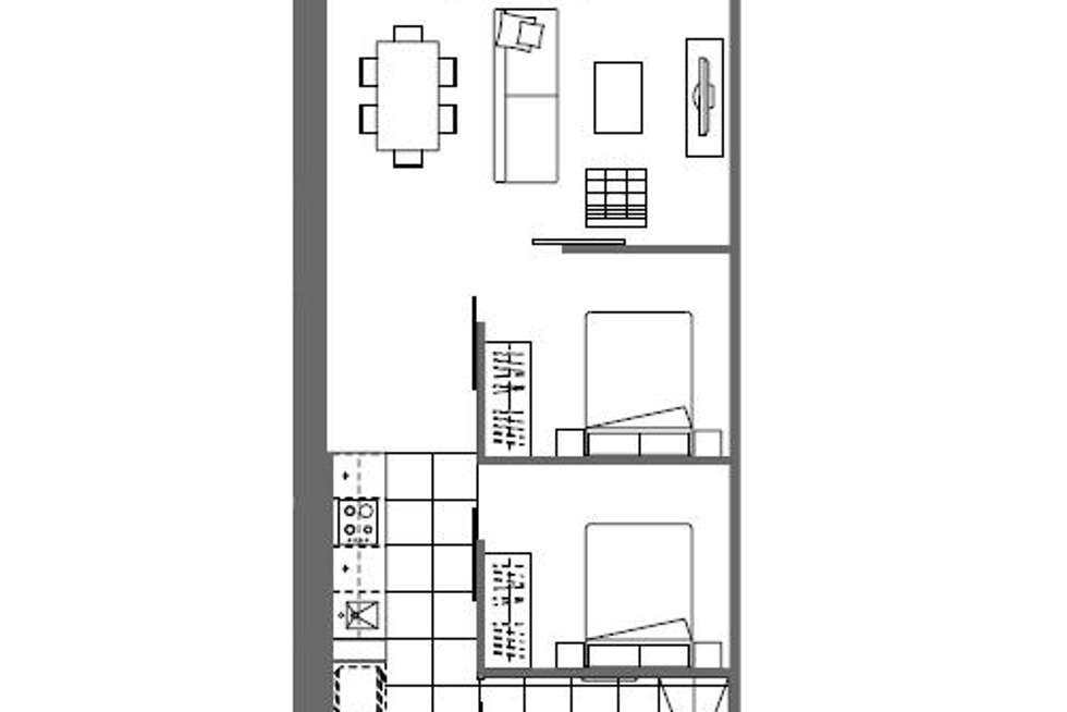 Floorplan of Homely apartment listing, 1414/35 Malcolm Street, South Yarra VIC 3141