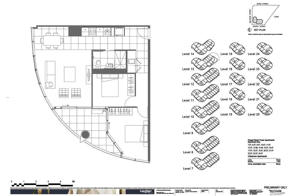 Floorplan of Homely apartment listing, 1607/35 Malcolm Street, South Yarra VIC 3141