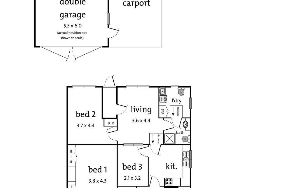 Floorplan of Homely house listing, 449 Mount Dandenong Road, Kilsyth VIC 3137
