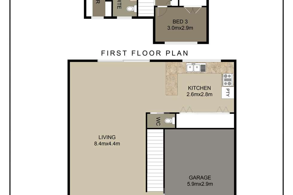 Floorplan of Homely townhouse listing, 4/72 Dwyer Street, North Gosford NSW 2250
