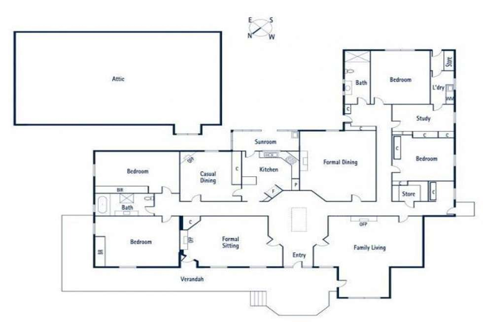 Floorplan of Homely house listing, 6 Logan Street, Canterbury VIC 3126