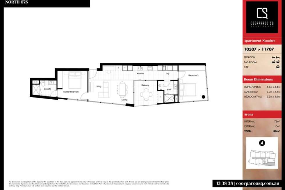 Floorplan of Homely apartment listing, 10607/300 Old Cleveland Road, Coorparoo QLD 4151