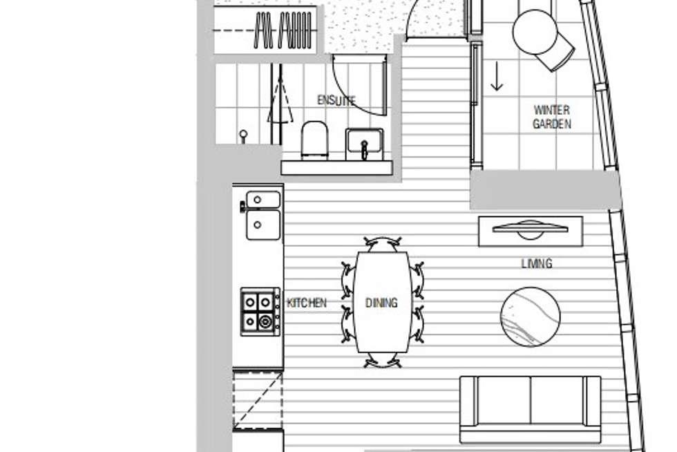 Floorplan of Homely apartment listing, 2102/628 Flinders Street, Docklands VIC 3008