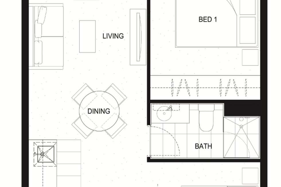 Floorplan of Homely apartment listing, 3404/285 La Trobe Street, Melbourne VIC 3000