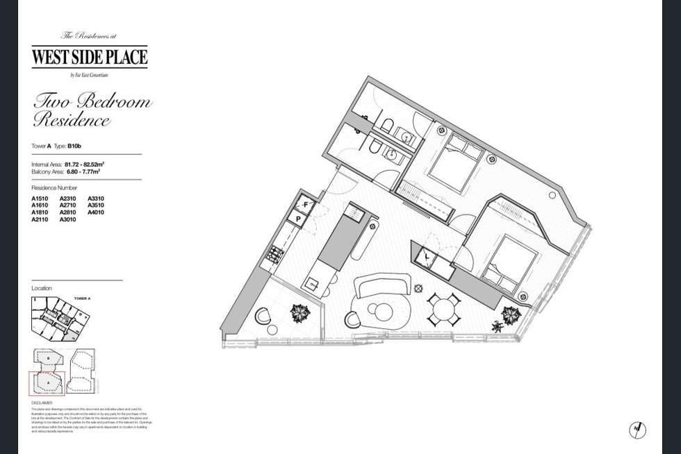 Floorplan of Homely apartment listing, 2710A/250 Spencer Street, Melbourne VIC 3000
