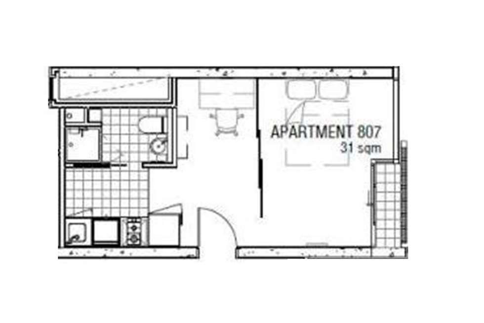 Floorplan of Homely apartment listing, 807/131 Pelham Street, Carlton VIC 3053