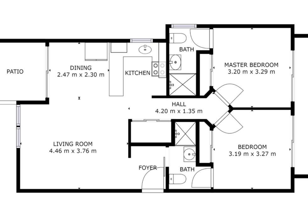 Floorplan of Homely apartment listing, 2/12 Mcgregor Avenue, Lutwyche QLD 4030
