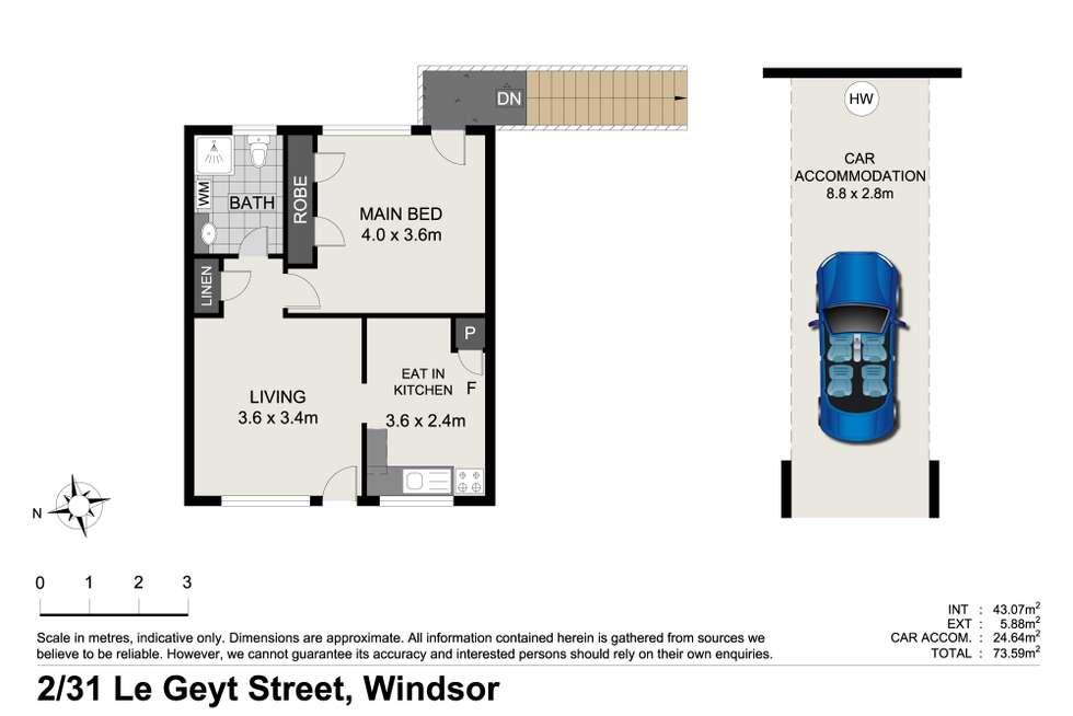 Floorplan of Homely unit listing, 2/31 Le Geyt Street, Windsor QLD 4030