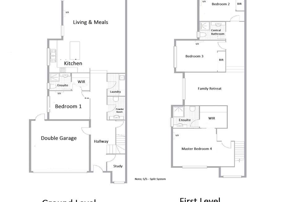 Floorplan of Homely townhouse listing, 47 Percy Street, Mitcham VIC 3132