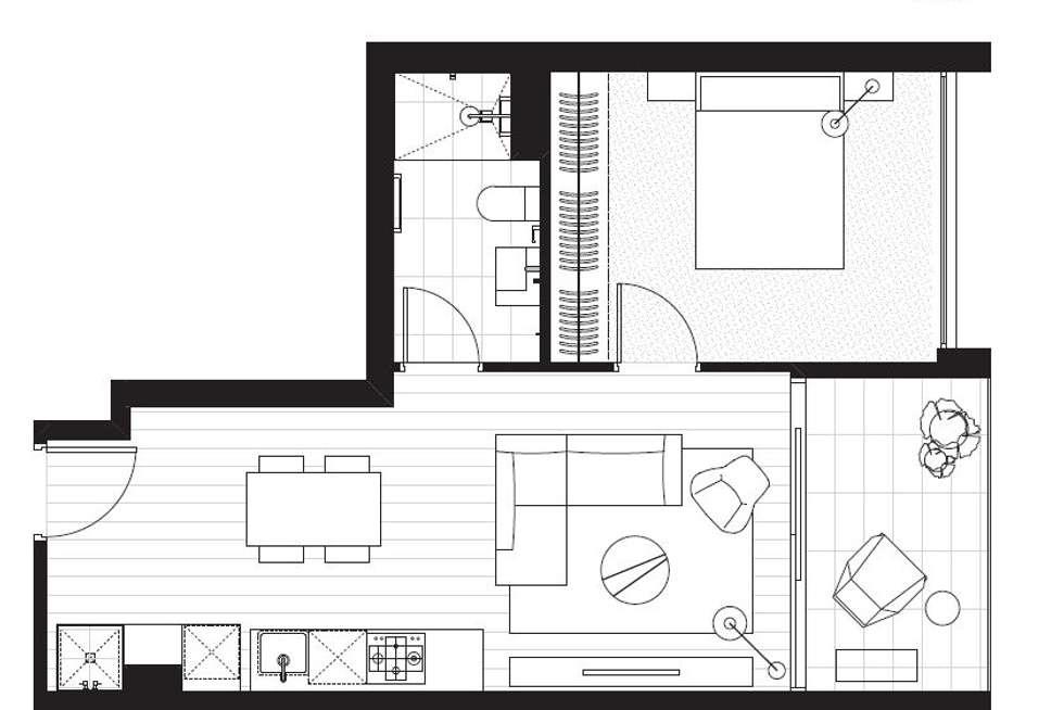Floorplan of Homely apartment listing, 204/115 Church Street, Richmond VIC 3121