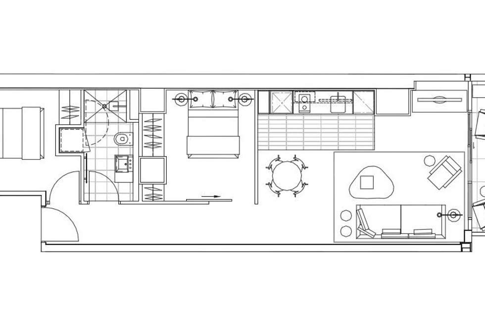 Floorplan of Homely apartment listing, 617/199 William Street, Melbourne VIC 3000