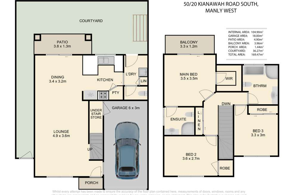 Floorplan of Homely townhouse listing, 50/20 Kianawah Rd South, Manly West QLD 4179