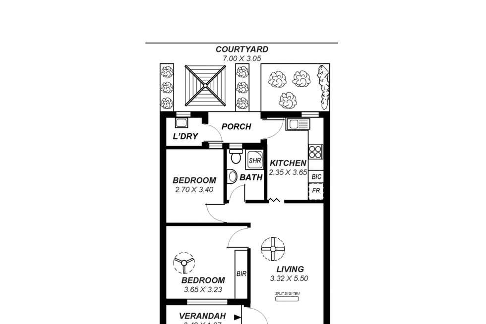 Floorplan of Homely unit listing, 2/64 Tusmore Avenue, Tusmore SA 5065