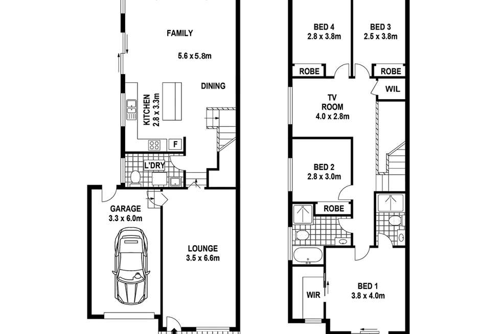Floorplan of Homely house listing, 128b Lindesay St, Campbelltown NSW 2560