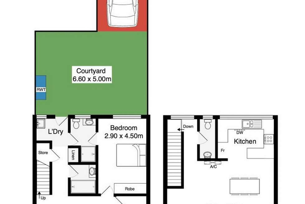 Floorplan of Homely unit listing, 2/3 Harborview Tce, Encounter Bay SA 5211