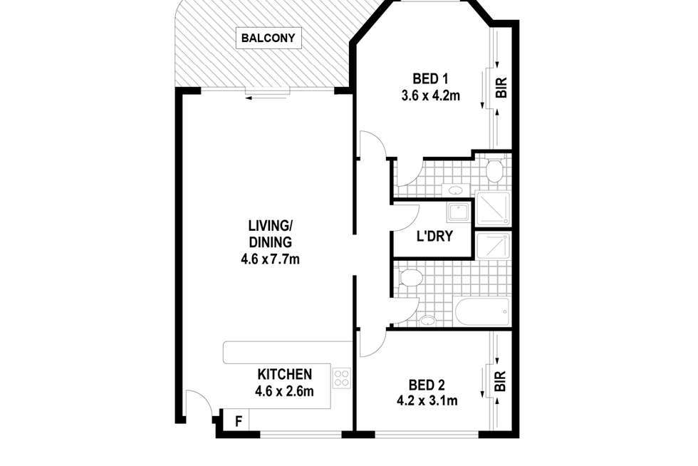 Floorplan of Homely apartment listing, 3/82-84 Beaconsfield St, Silverwater NSW 2128