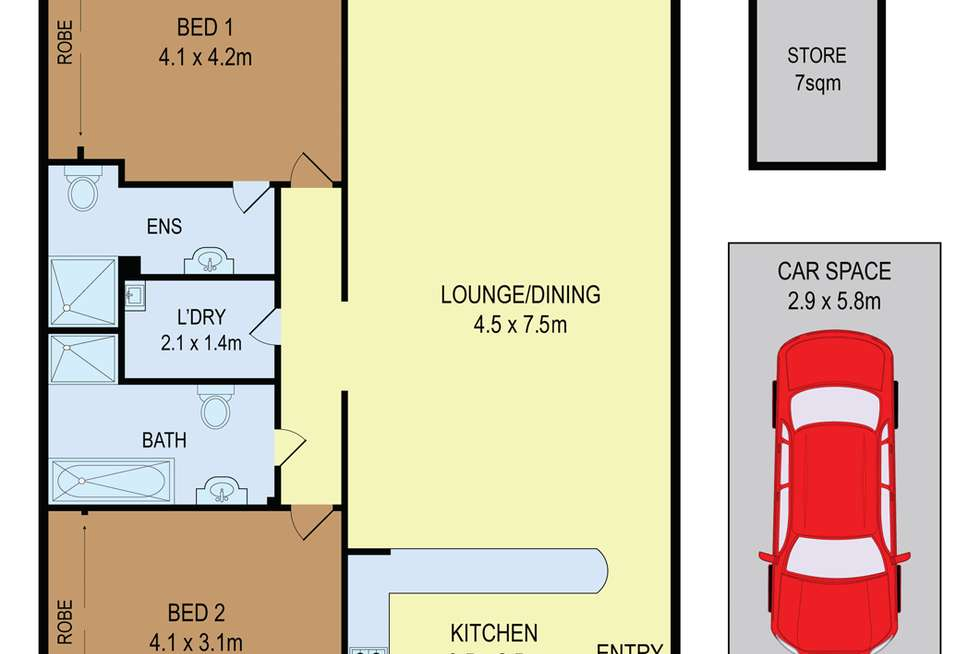 Floorplan of Homely apartment listing, 10/82-84 Beaconsfield St, Silverwater NSW 2128