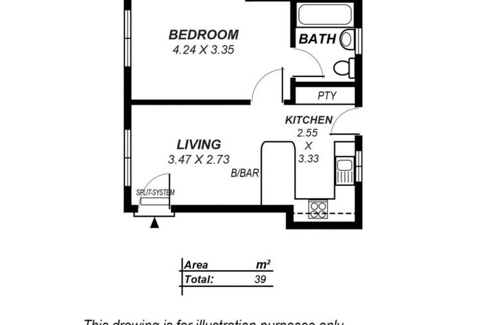 Floorplan of Homely unit listing, 2/15 Botanic Street, Hackney SA 5069