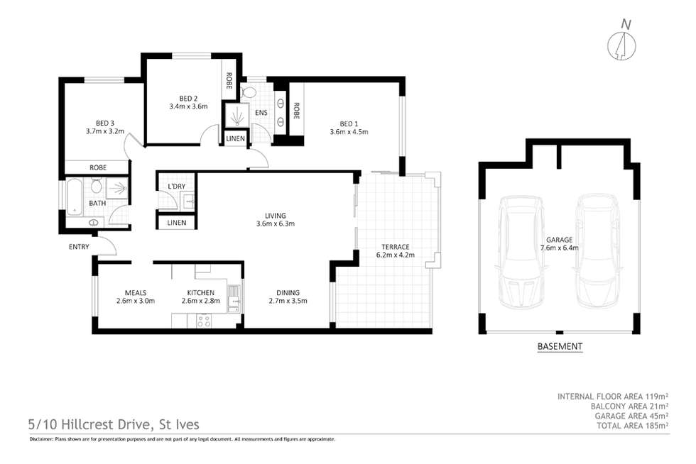 Floorplan of Homely apartment listing, Apartment 5/10 Hillcrest Drive, St Ives NSW 2075