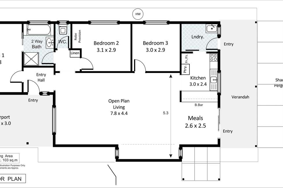 Floorplan of Homely villa listing, 9A Fenwick Road, Berri SA 5343