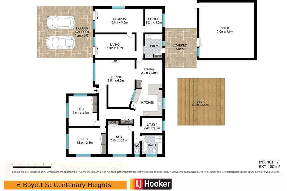 Floorplan of Homely house listing, 6 Boyett Street, Centenary Heights QLD 4350