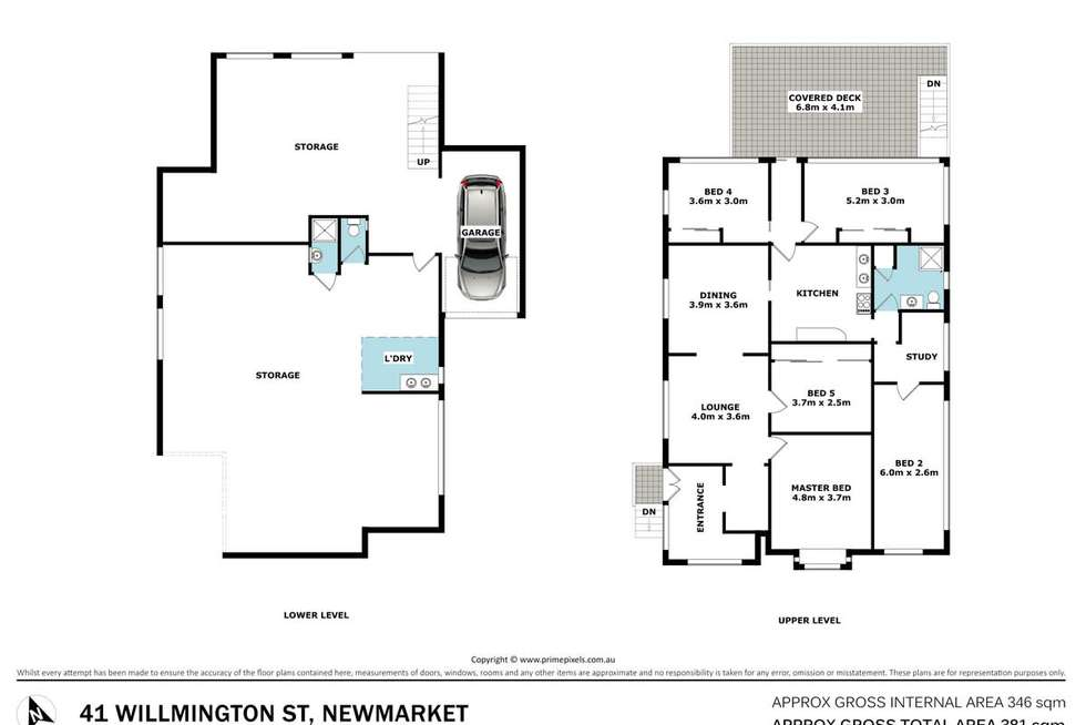 Floorplan of Homely house listing, 41 Willmington Street, Newmarket QLD 4051