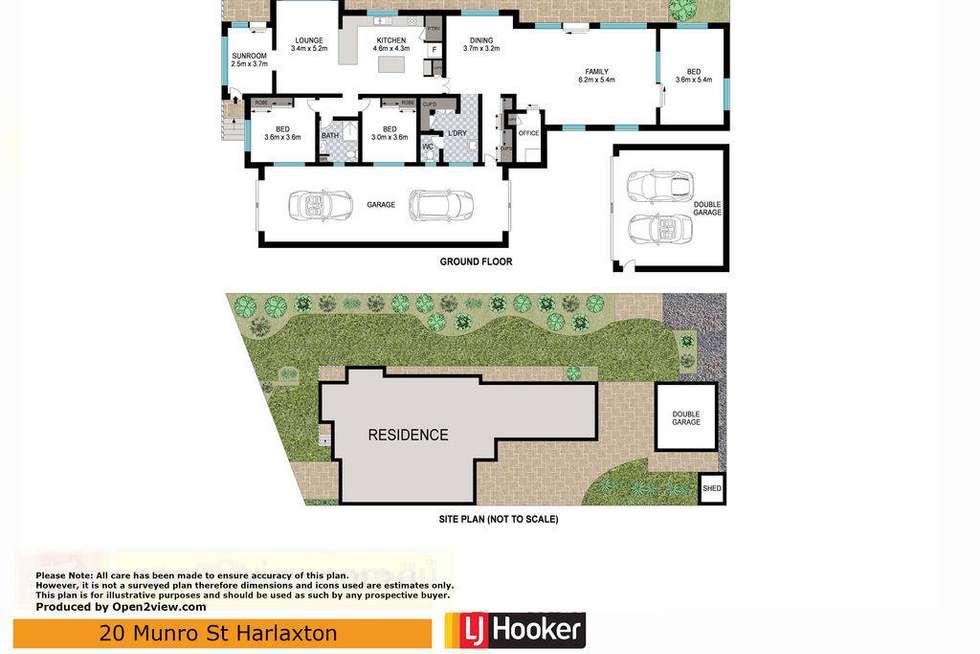 Floorplan of Homely house listing, 20 Munro Street, Harlaxton QLD 4350