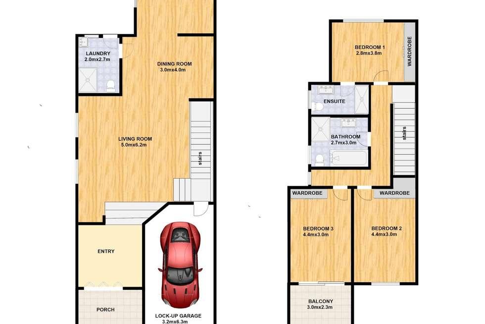 Floorplan of Homely semiDetached listing, 98 High Street, Cabramatta West NSW 2166
