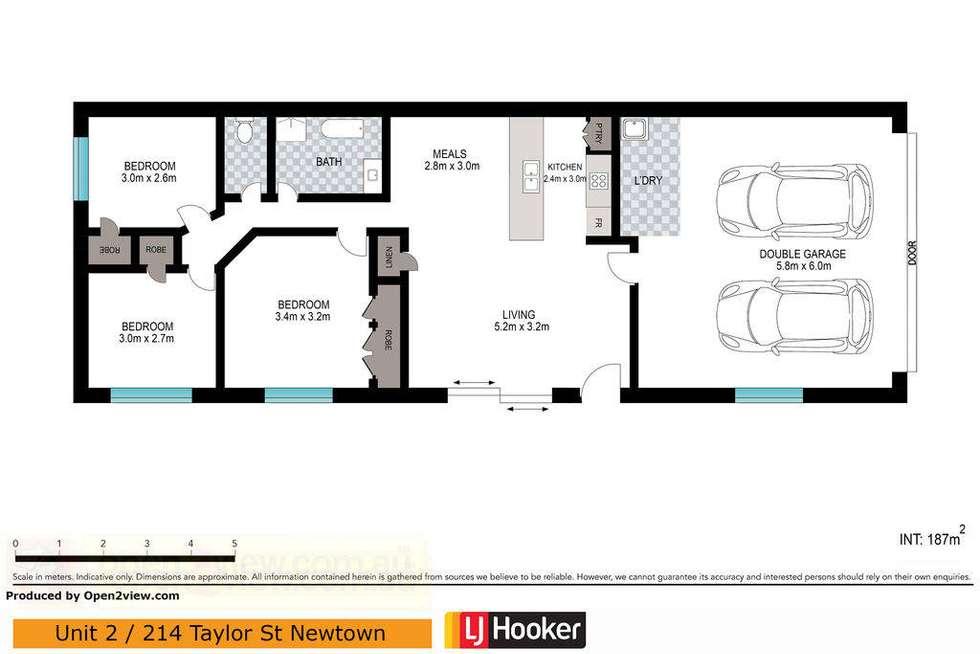 Floorplan of Homely unit listing, 2/214 Taylor Street, Newtown QLD 4350