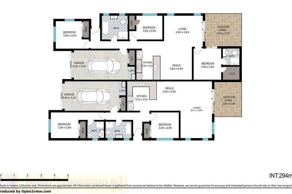 Floorplan of Homely semiDetached listing, 20A Alpine Court, Cranley QLD 4350